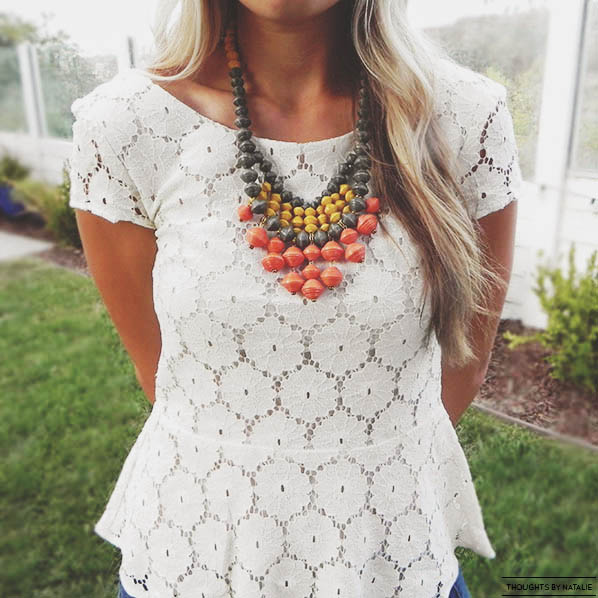 Noonday Collection: Sweet Clementine Bib // www.thoughtsbynatalie.com