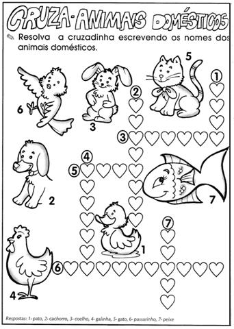 Animais Domesticos E Selvagens 50 Atividades Exercicios Desenhos