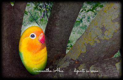 Sassi pappagalli dipinti a mano prezzi fermacarte