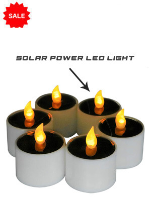 Solar Power LED Candle Light - 6 Pack
