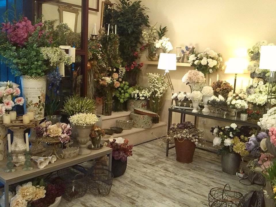 Flores Artificiales - Cártamo Flores. Floristería. Decoración de ...