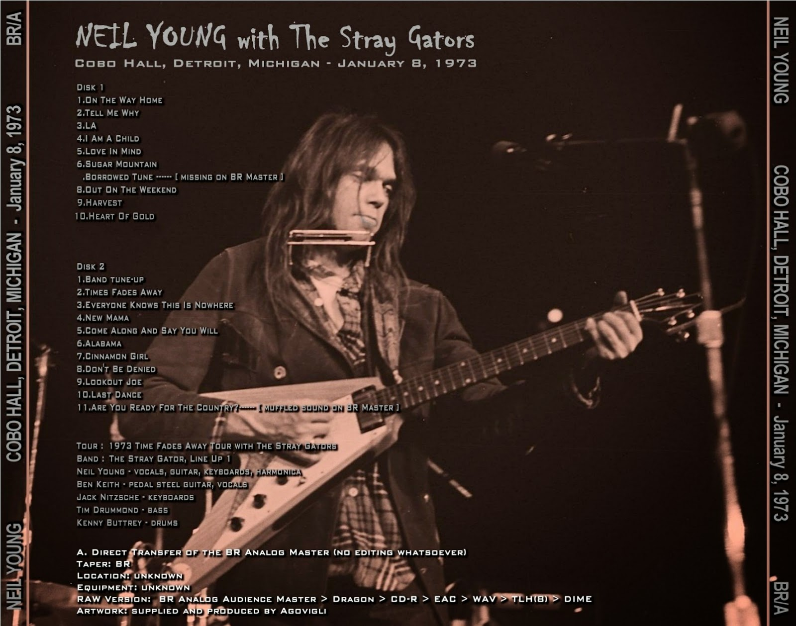 PLUMDUSTY'S PAGE: Neil Young 1973-01-08 Cobo Hall Detroit ...