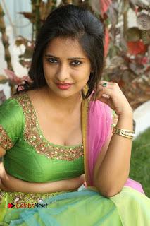 Actress Nikitha Bisht Stills in Lehenga Choli at Pochampally Ikat Art Mela Launch  0354.JPG
