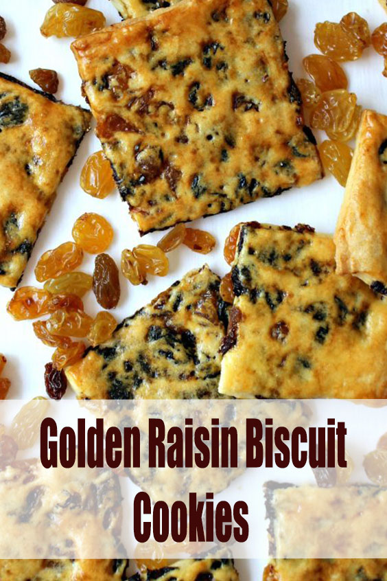 Golden Raisin Biscuit Cookies
