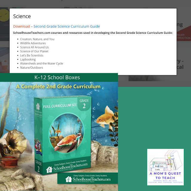 A Mom's Quest to Teach: Swimming Through New Waters: Are You New to Homeschooling? - Second grade science curriculum course list and K-12 School Boxes Curriculum Cover