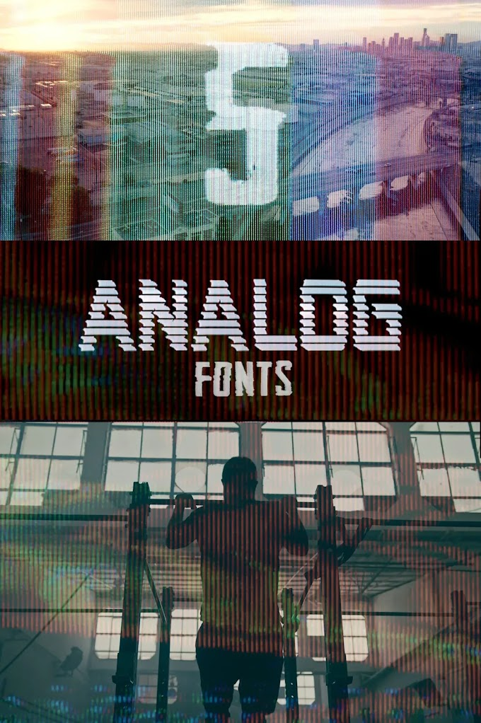 ANALOG FONTS[Master Filmmaker][Motion Graphics]