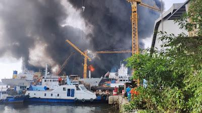 Kabar Terbaru Kapal Terbakar di Belawan
