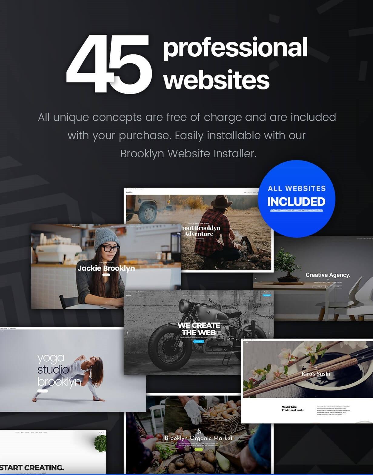 Brooklyn  Creative Multi Purpose Responsive WordPress Theme