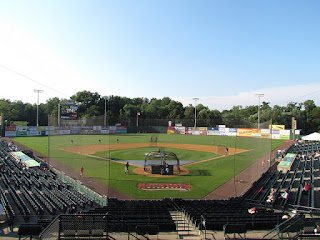 Home to center, New Britain Stadium