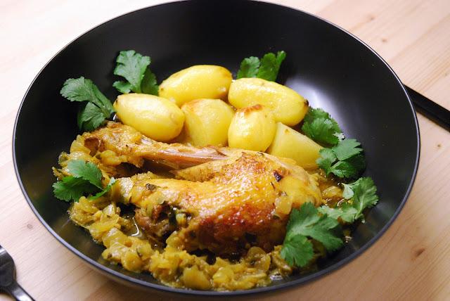 Poulet chermoula à la marocaine