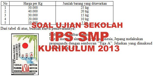 Soal Dan Kunci Jawaban Ujian Sekolah Ips Smp Kurikulum 2013 Tahun Pelajaran 2019 2020 Didno76 Com