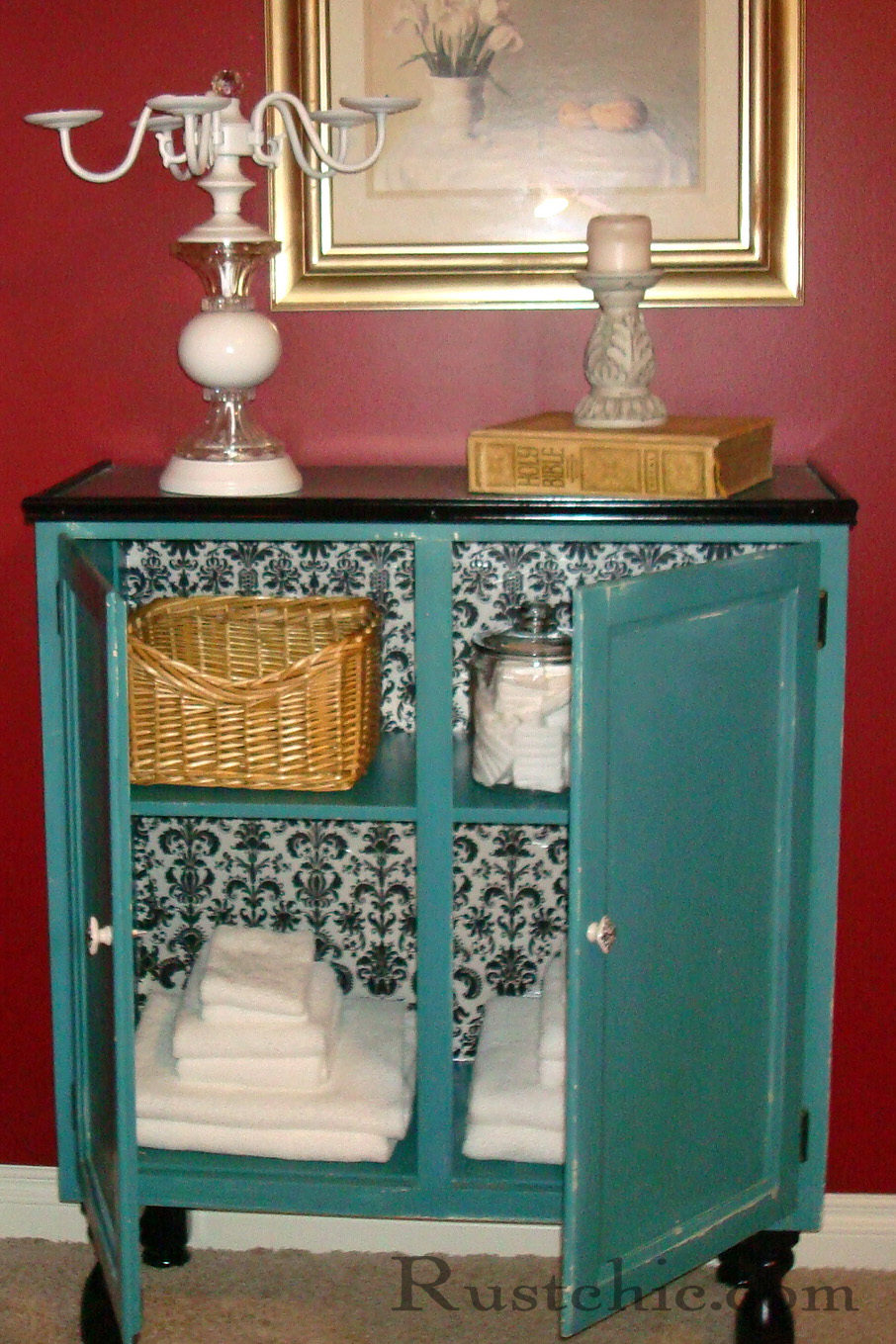 Rustchic: Turquoise Cabinet