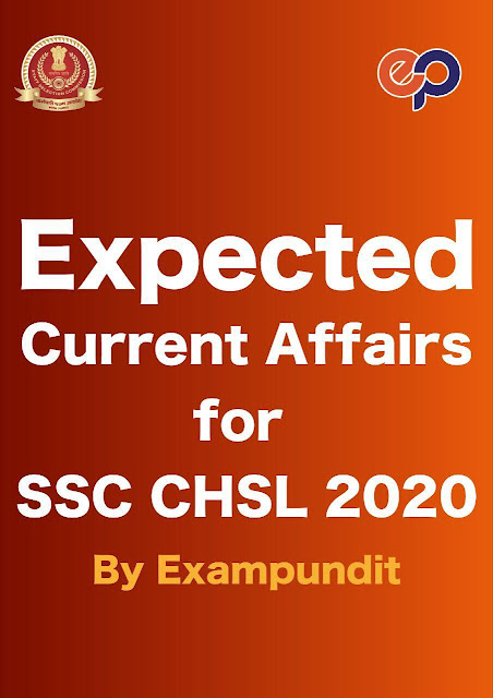 Expected Current Affairs 2020 : For SSC Exam PDF Book