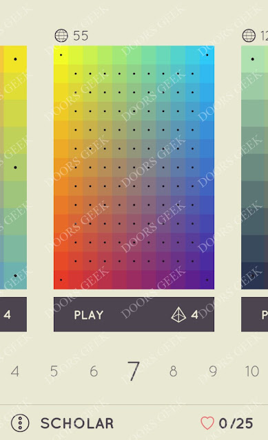 I Love Hue Scholar Level 7 Solution, Cheats, Walkthrough