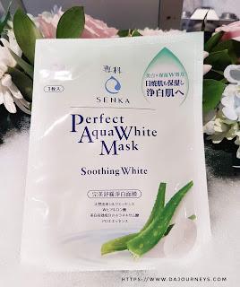 [Review] Senka Perfect Aqua White Mask Soothing White