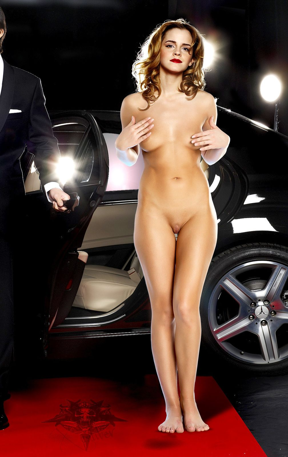 Emma Watson Nude at Car Trade Show