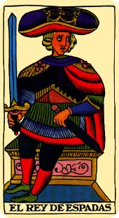 Tarot Marsella: Rey de Espadas