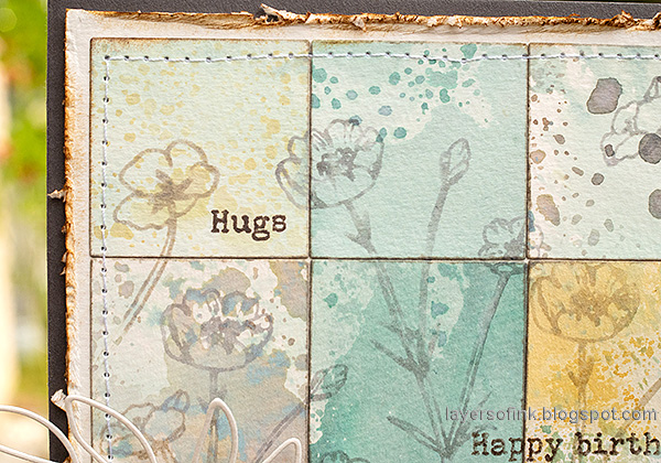 Layers of ink - Distress Ink Blocks Card Tutorial by Anna-Karin Evaldsson. Simon Says Stamp Thoughtful Flowers.