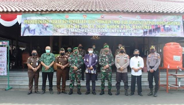 Inilah Sinergi TNI-Polri dan Jajaran Pemkab Banyumas di Puncak TMMD Reguler