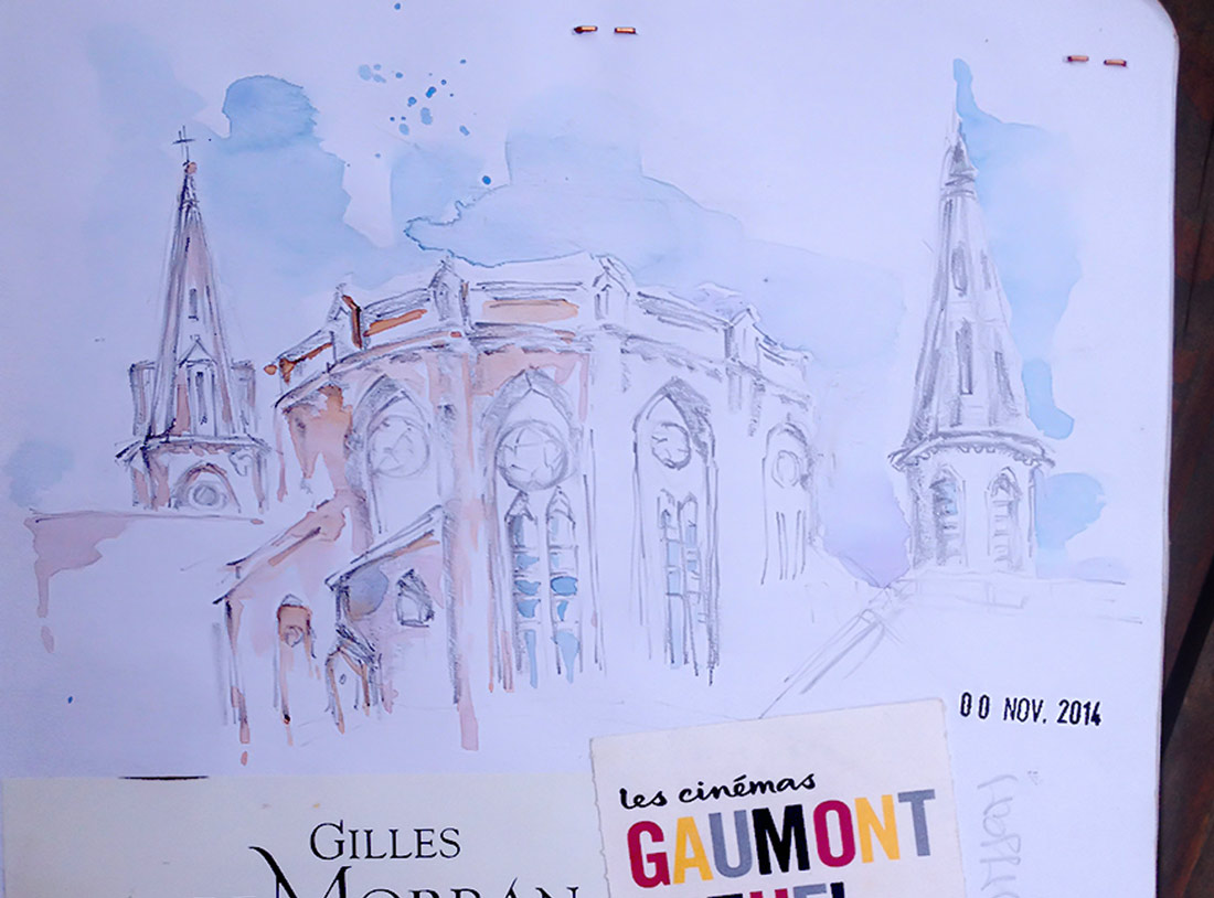 France-Toulouse-Watercolor-Sketch