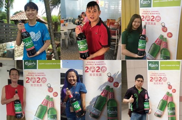Winners of the Gigantic 3-Litre Carlsberg Bottle