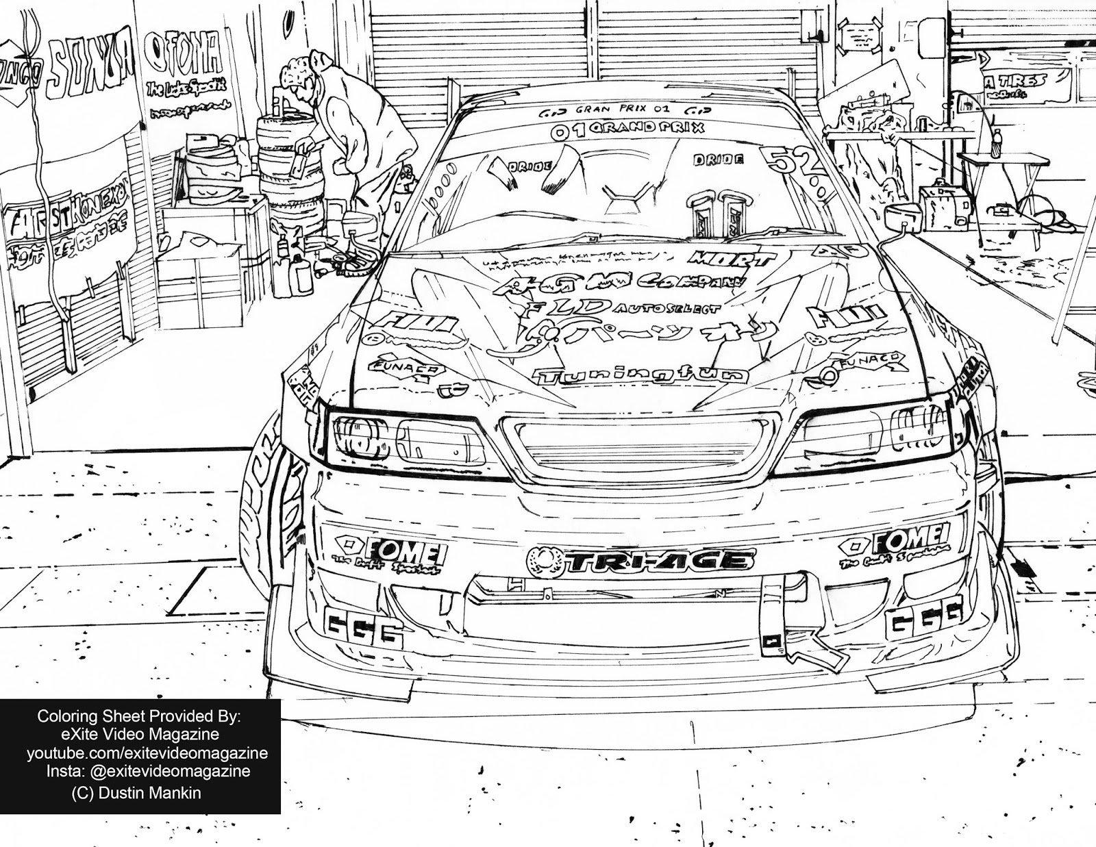 Exite Video Magazine Free Jdm Drift Coloring Page Japanese Cars Coloring Page Beat Corona Lock Downs By Coloring Drift Cars