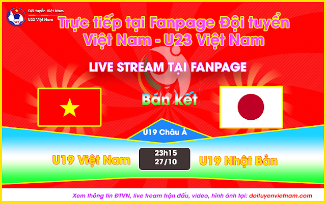 Link trực tiếp U19 Vietnam vs U19 Nhật Bản (Bán kết 1 - VCK U19 Châu Á)