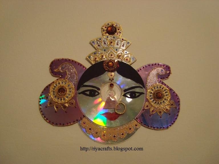Riya S Crafts Craft Ur Scrap Durga Mata Cd Craft