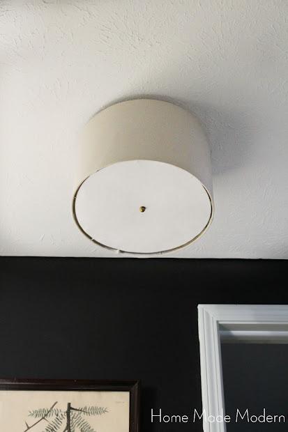 diy drum shade lighting fixture