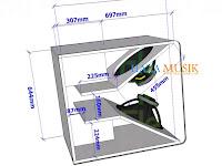 Gambar ukuran box speaker double low mid15inch lapangan