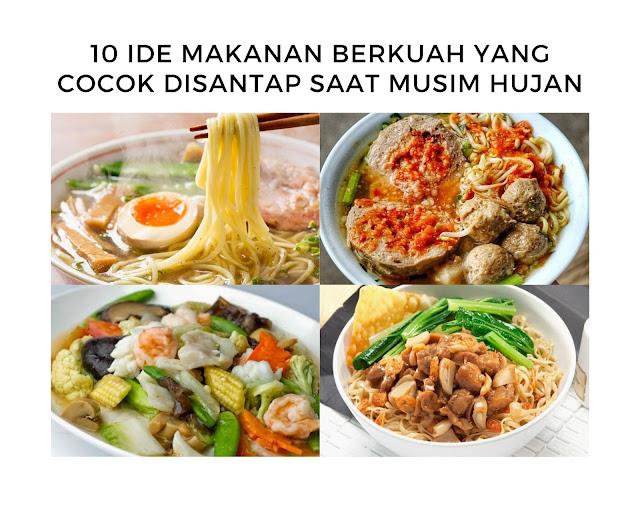 Ide Makanan Berkuah Musim Hujan