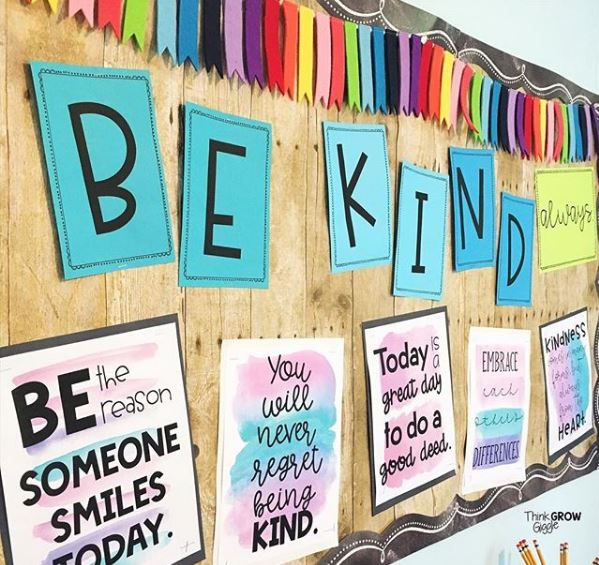 kindness bulletin board back to school