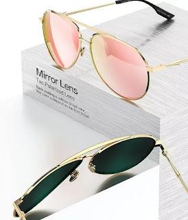 SODQW Aviator Sunglasses