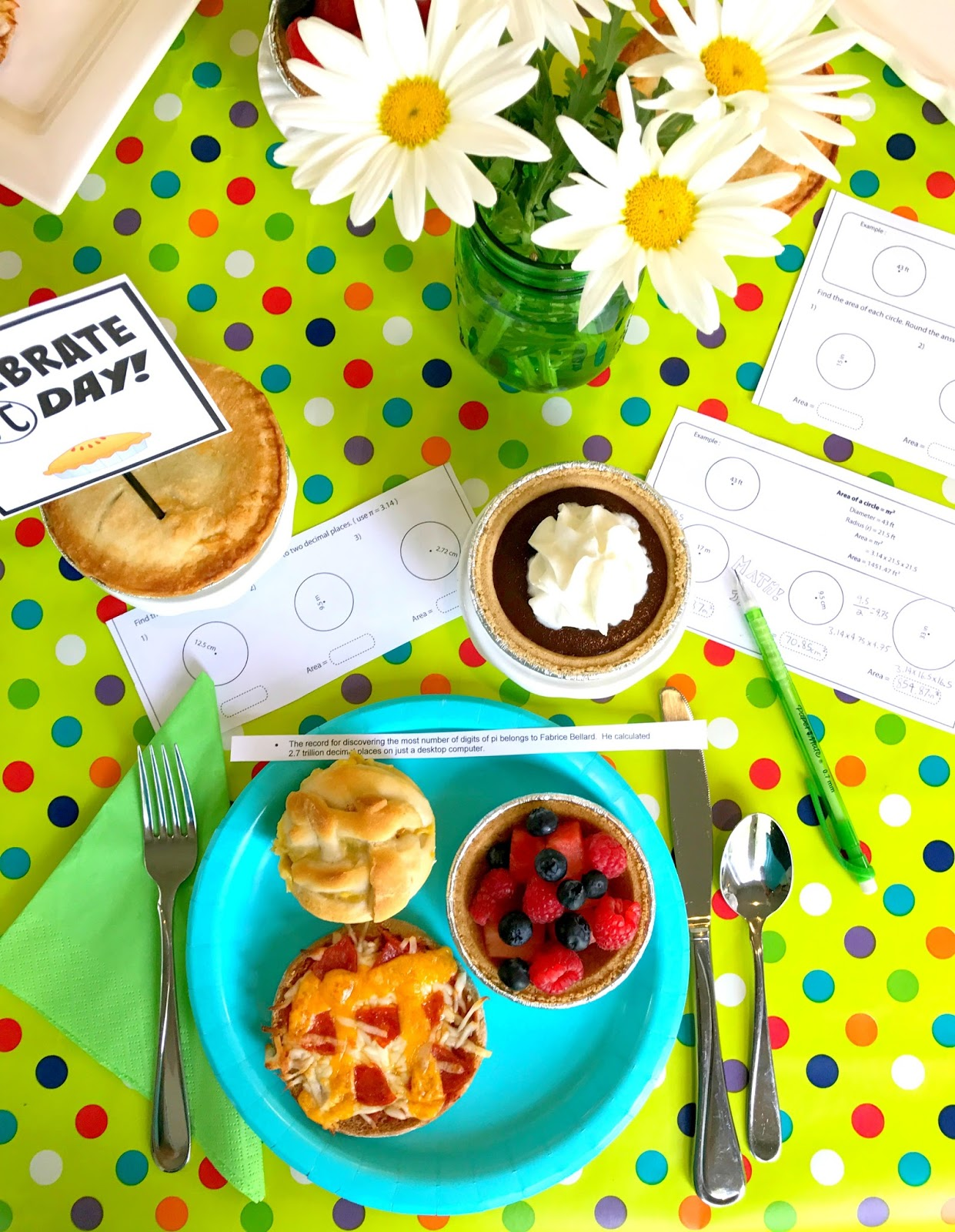 Michelle Paige Blogs Pi Day Party With Free Printables