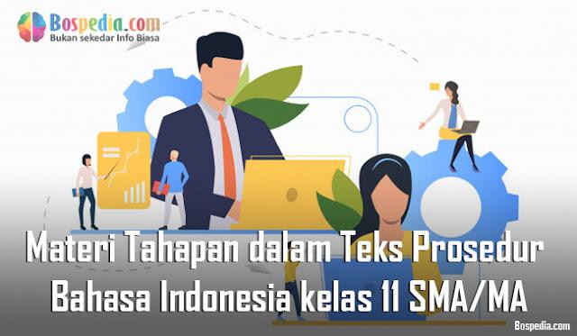 Materi Tahapan dalam Teks Prosedur Mapel Bahasa Indonesia kelas 11 SMA/MA