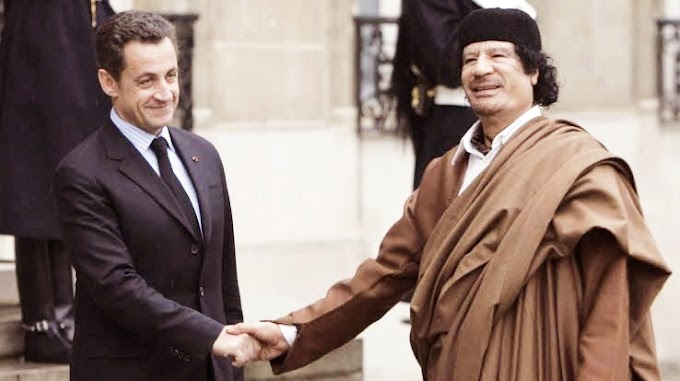 Punishment of Sarkozy and laughter from Gaddafi's grave