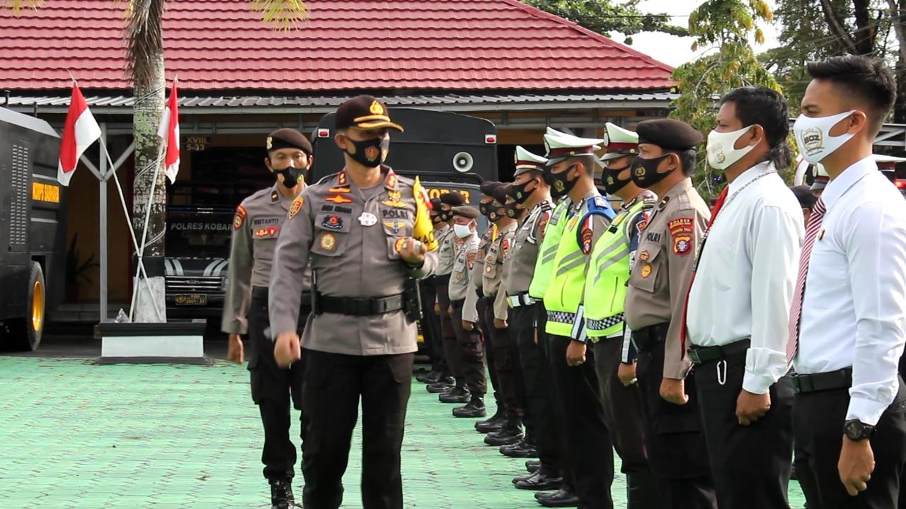 Kapolres Kobar Pimpin Apel Gelar Pasukan Operasi Mantap Praja