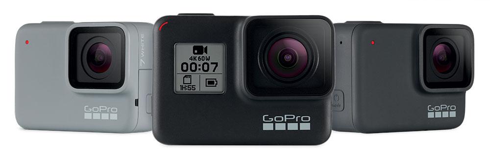 Три новых модели GoPro Hero 7