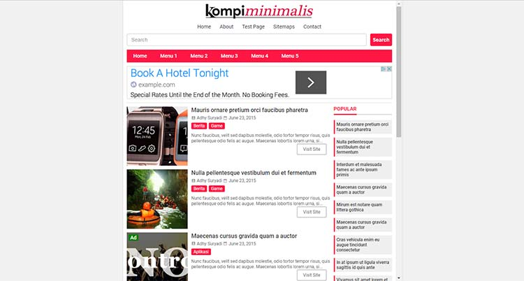 Premium Blogger Template Kompi Minimalis, HTML5 And AMP