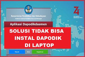 SOLUSI Tidak Bisa Instal Dapodik Di Laptop