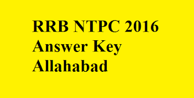 RRB NTPC Answer key Allahabad