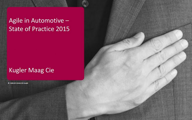 B&E | Agile in Automotive. State of Practice 2015