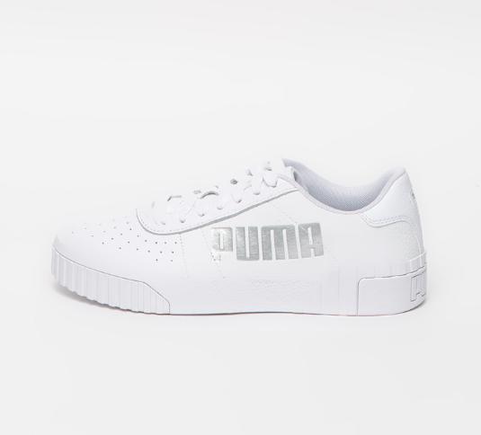 Pantofi sport dama albi Puma cu talpa plata Cali Statement