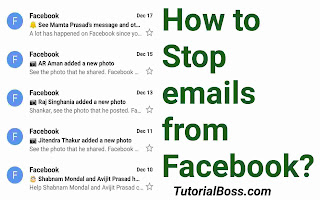 Stop emails from Facebook
