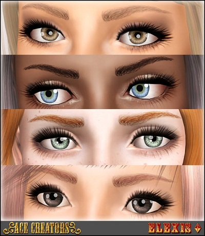 empire sims  heavensent curved eyebrows  elexis