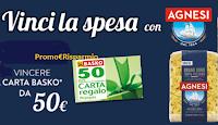 Logo Concorso ''Vinci la spesa con Agnesi'': 60 buoni spesa da 50€