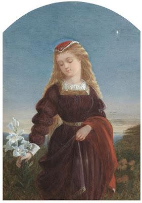 Augustus Jules Bouvier - Девушка с лилией под вечерней звездой