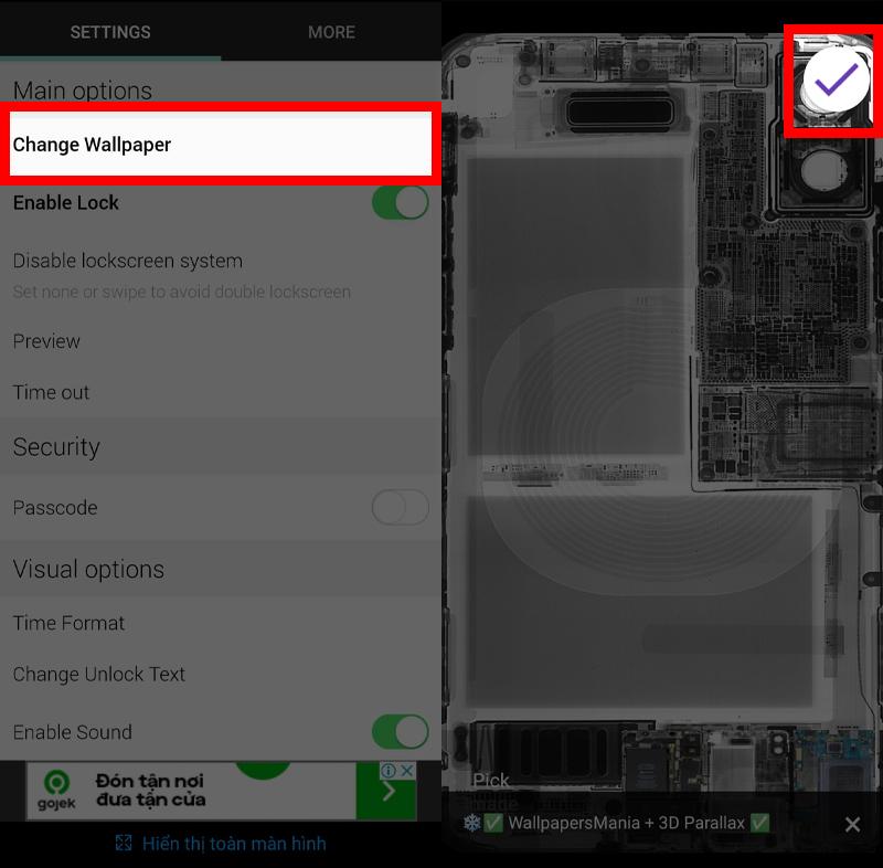 Hướng dẫn cách tạo hình nền độc đáo với ứng dụng Transparent Lock Screen