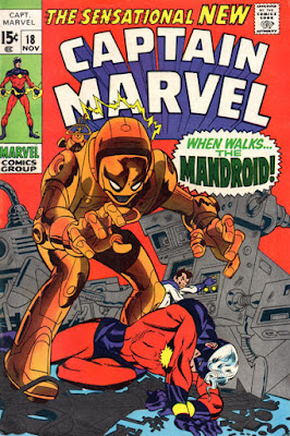 Captain Marvel #18, the Mandroid