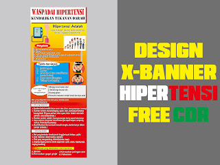 Design X-Banner HIPERTENSI Free CDR Format